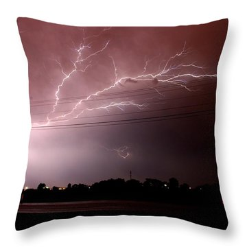 Thinking Outside The Lines Throw Pillow by David Dunham