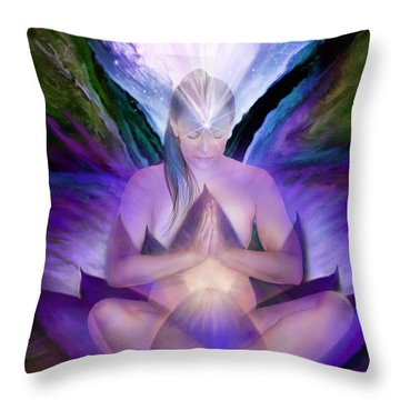 Third Eye Chakra Goddess Throw Pillow