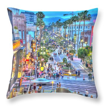 Third Street Promenade Throw Pillow