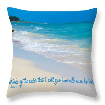 Thirst No More Throw Pillow