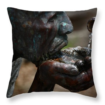 Throw Pillow featuring the photograph Thirst Quencher by Leticia Latocki