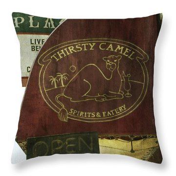 Throw Pillow featuring the photograph Thirsty Camel by Michael Colgate