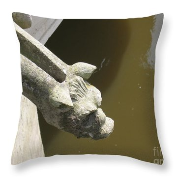 Thirsty Gargoyle Throw Pillow