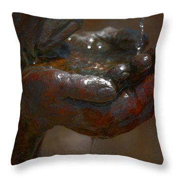 Throw Pillow featuring the photograph Thirsty by Leticia Latocki