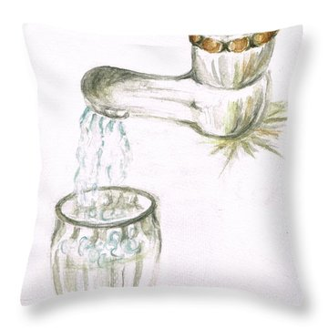 Thirsty Of Water Throw Pillow