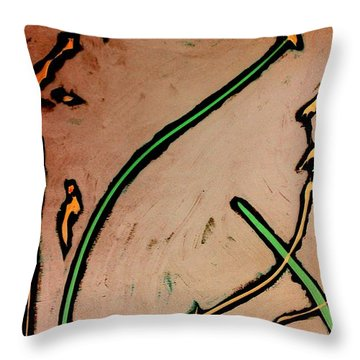 Throw Pillow featuring the painting Thirteen by Jacqueline McReynolds