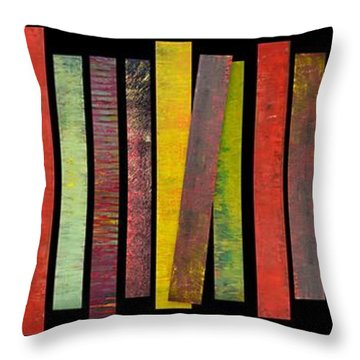 Thirty Stripes 1.0 Throw Pillow by Michelle Calkins
