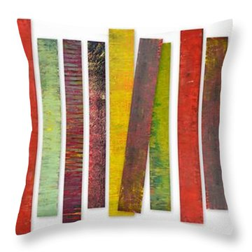 Thirty Stripes 2.0 Throw Pillow by Michelle Calkins