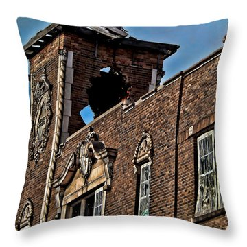 This Building Is History Throw Pillow by Kristie  Bonnewell