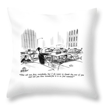 This Cab Was First Throw Pillow