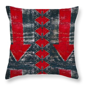 This End Up Throw Pillow by Carol Leigh