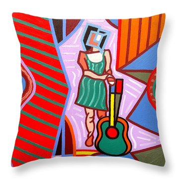 This Guitar Is More Than An Instrument Throw Pillow by Patrick J Murphy
