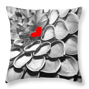 This Heart Is For You Throw Pillow by Sabrina L Ryan