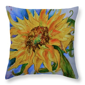 This Here Sunflower Throw Pillow