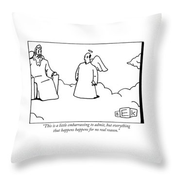 This Is A Little Embarrassing To Admit Throw Pillow