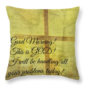 Throw Pillow featuring the digital art This Is God by Erika Weber