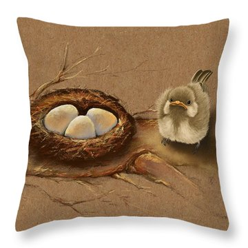 This Is My Nest? Throw Pillow