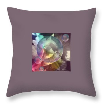 Abstract Flowers Throw Pillows