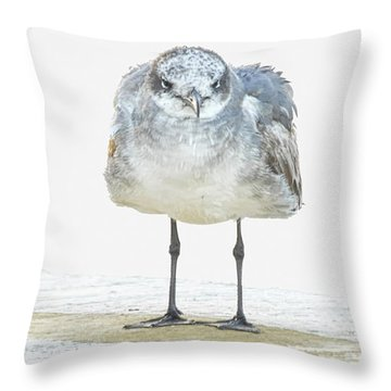 This Is Not My Happy Face Throw Pillow by Don Durfee