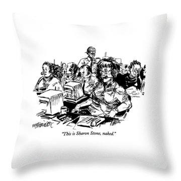 This Is Sharon Stone Throw Pillow
