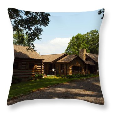 This Is The Cabin Throw Pillow by Robert Margetts