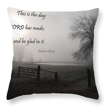 This Is The Day That The Lord Has Made Throw Pillow by Jani Freimann
