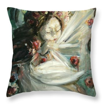 This Little Light Of Mine Throw Pillow by Carrie Joy Byrnes