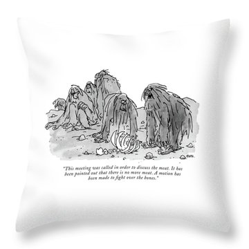 This Meeting Was Called In Order To Discuss Throw Pillow