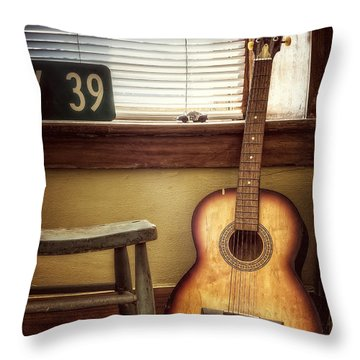This Old Guitar Throw Pillow