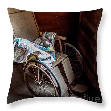 Wheelchair With A View Throw Pillow