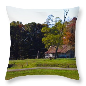 Throw Pillow featuring the photograph This Old House by Nick Kirby