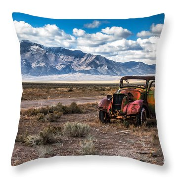 This Old Truck Throw Pillow by Robert Bales