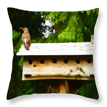 This Place Is Too Crowded Throw Pillow by Kym Backland