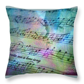 This Song's For You Throw Pillow