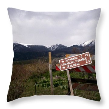 Throw Pillow featuring the photograph This Way by Carlee Ojeda