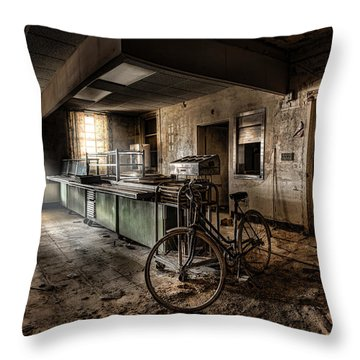 This Would Be The End - Cafeteria - Abandoned Asylum Throw Pillow