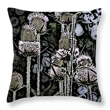 Throw Pillow featuring the digital art Thistle  by David Lane