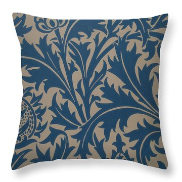 Thistle Design Throw Pillow by William Morris