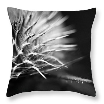 Thistle In Monochrome Throw Pillow