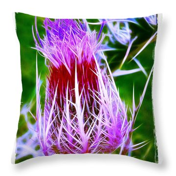 Throw Pillow featuring the photograph Thistle by Judi Bagwell