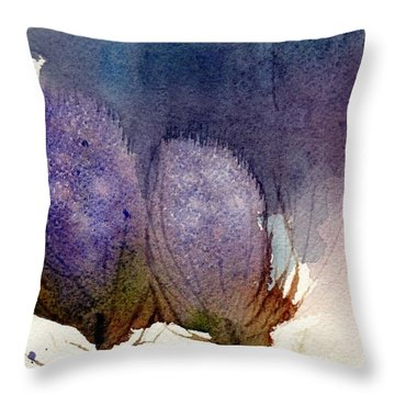 Throw Pillow featuring the painting Thistle Weather by Anne Duke