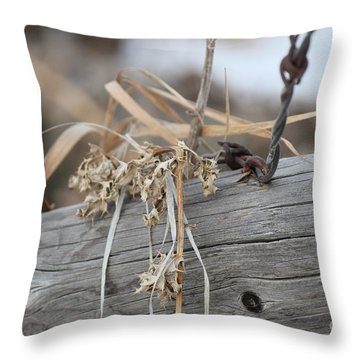 Thistles And Barbed Wire Throw Pillow