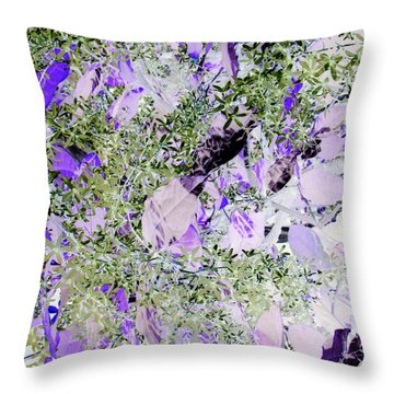Throw Pillow featuring the photograph Thistles by Debi Singer