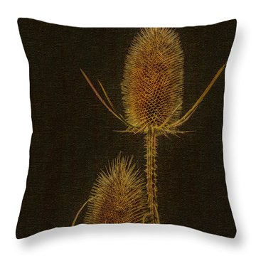 Throw Pillow featuring the photograph Thistles by Hanny Heim
