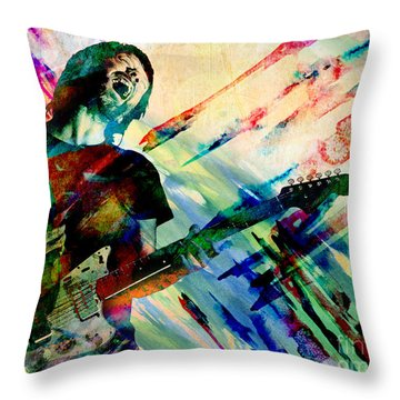 Thom Yorke - Radiohead - Original Painting Print Throw Pillow
