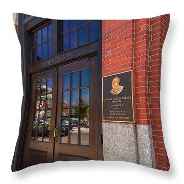Thomas Austin Yawkey Throw Pillow by Paul Mangold
