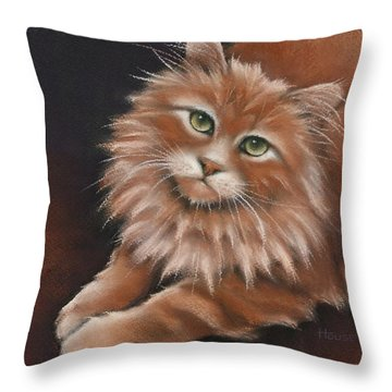 Throw Pillow featuring the drawing Thomas by Cynthia House