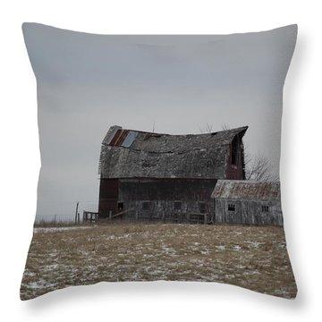 Thomas Hill Barn Throw Pillow