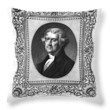 Thomas Jefferson Throw Pillow by Aged Pixel