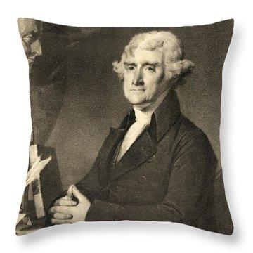 Thomas Jefferson Throw Pillow by American School